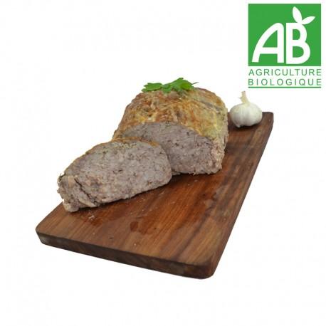 Terrine de 250 gr pâté de saucisse Bio