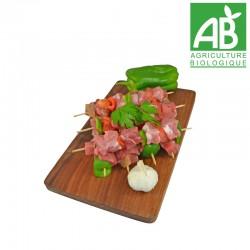 Brochette de porc Bio
