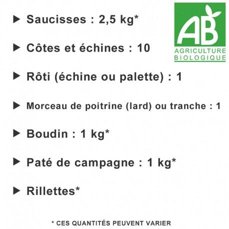 Colis de 10 kg porc Bio n°1